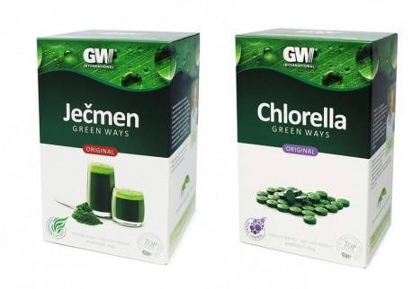 Chlorella Green Ways - original - v tabletách