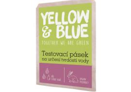 yellow & blue testovací pásek k určení tvrdosti vody